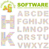 SOFTWARE. Vector letter collection. — Stock Vector