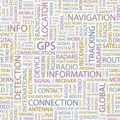 GPS. Seamless vector background — Stock Vector