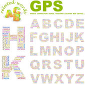 GPS. Vector letter collection. — Stock Vector