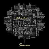 SUCCESS. Word collage. — Stock Vector