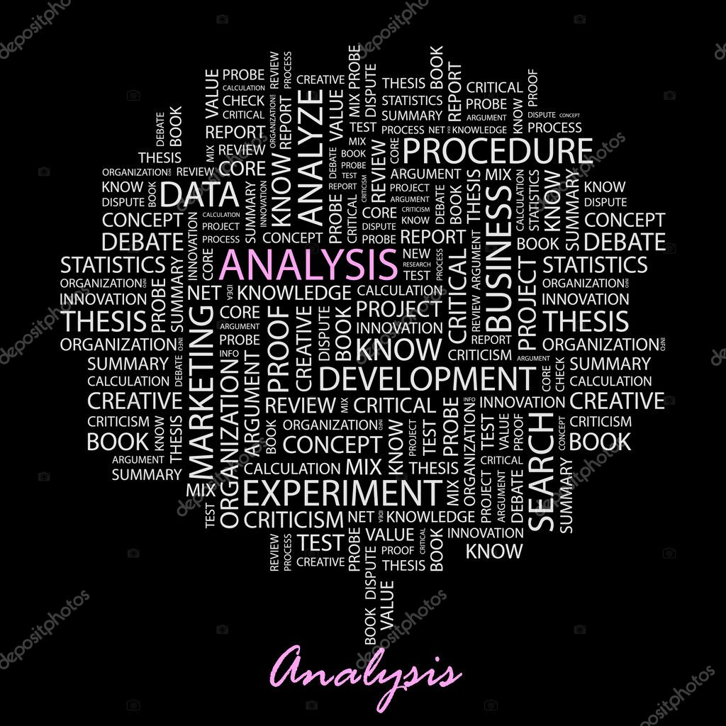 ANALYSIS. Illustration with different association terms. — Stock Vector #3075938