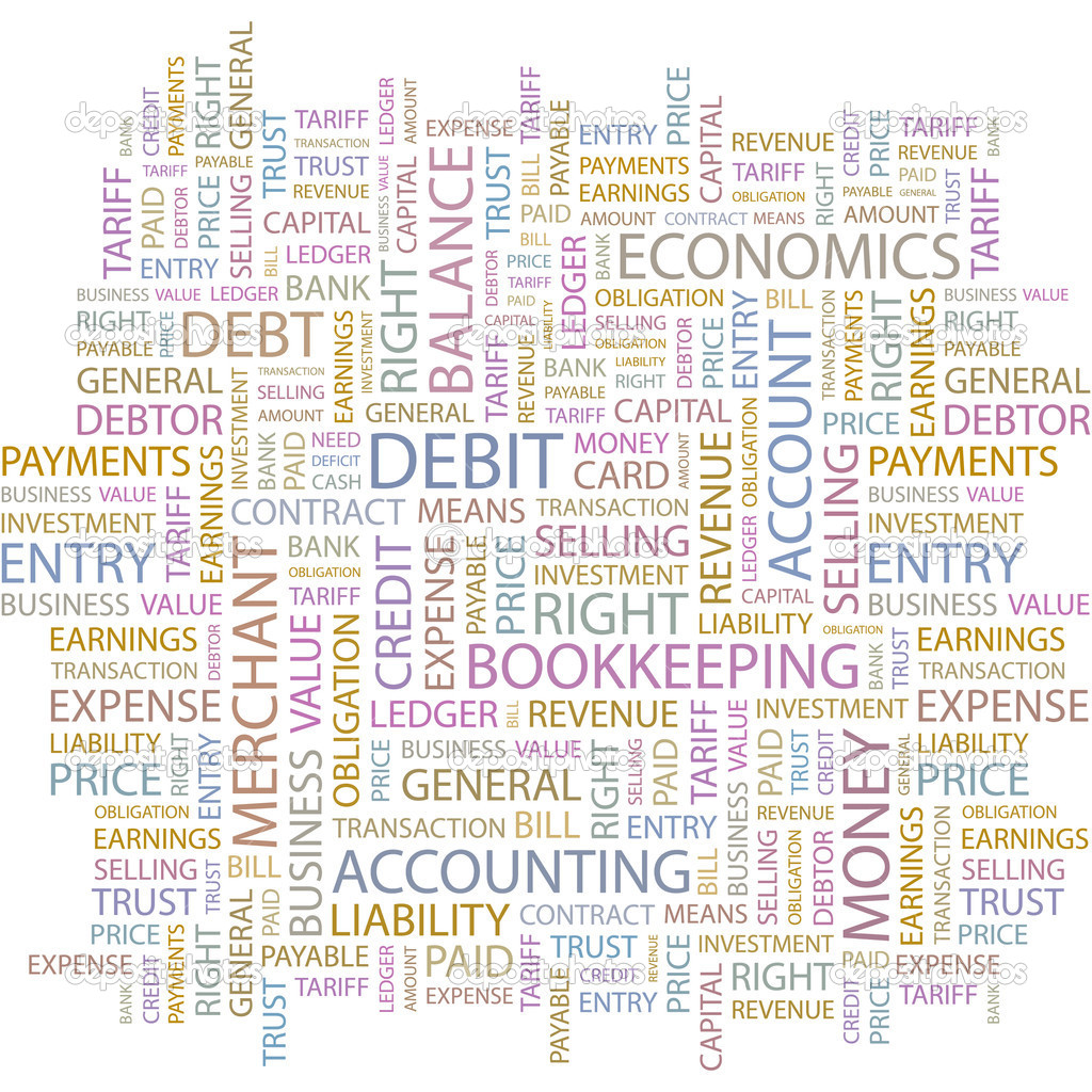 DEBIT. Word collage on white background. Vector illustration.  — Stock Vector #3079066