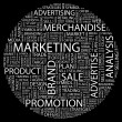MARKETING. Word collage. Vector illustration. - Vettoriali Stock