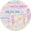 MEDICINE. Word collage on white background. — Stock Vector