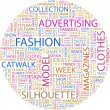 FASHION. Word collage - Stock Vector
