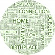 HOME. Word collage — Imagen vectorial