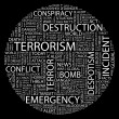 Stock Vector: TERRORISM. Word collage