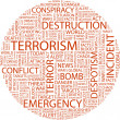 TERRORISM. Word collage — Stock Vector #3174903