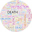 DEATH. Word collage — Stock Vector