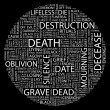 Stock Vector: DEATH. Word collage