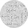 DEATH. Word collage — Stock Vector #3175170