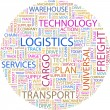 LOGISTICS. Word collag - Stock Vector