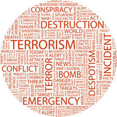TERRORISM. Word collage — Stock Vector