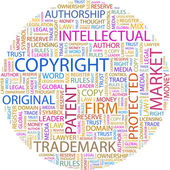 COPYRIGHT. Word collage — Stock Vector