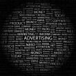 ADVERTISING. Word collage on black background — Stock Vector