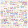 MARKETING. Word collage on white background — Stock Vector