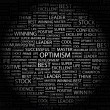 OPTIMISM. Word collage — Stockvektor