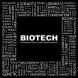 Royalty-Free Stock Vector Image: BIOTECH. Word collage on black background