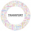 Stock Vector: TRANSPORT. Word collage on white background