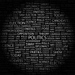 Royalty-Free Stock Vector Image: POLITICS. Word collage on black background