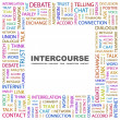 INTERCOURSE. Word collage on white background - Vettoriali Stock