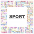 SPORT. Word collage on white background — Stock Vector #3506363