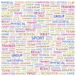 SPORT. Word collage on white background — Stock Vector
