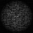 Royalty-Free Stock Vector Image: SPORT. Word collage on black background