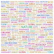 NATURE. Word collage on white background — Stock Vector
