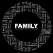 Family. Word collage — Imagen vectorial