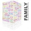 Royalty-Free Stock Vector Image: Family. Word collage on white background