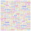 JOY. Word collage on white background — Stock Vector