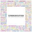 Royalty-Free Stock Vector Image: COMMUNICATION. Word collage on white background