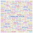 COMMUNICATION. Word collage on white background - Stock Vector