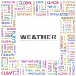 WEATHER. Word collage on white background - Stock Vector