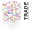 Stock Vector: TRADE. Word collage on white background