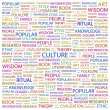 CULTURE. Word collage on white background — Stock Vector