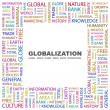 Royalty-Free Stock Vector Image: Globalization. Word collage on white background