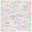 Globalization. Word collage on white background — Stock Vector