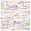 CRISIS. Word collage on white background - Stock Vector