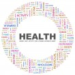 Royalty-Free Stock Vector Image: HEALTH. Word collage on white background