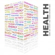HEALTH. Word collage on white background — Stock Vector
