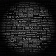 STRESS. Word collage on black background - ベクター素材ストック