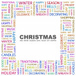 CHRISTMAS. Word collage on white background — Stock Vector