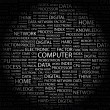 COMPUTER. Word collage on black background - Stock Vector
