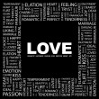 LOVE. Word collage on black background — Stock Vector #3508223