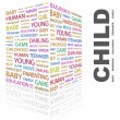 Vector de stock : CHILD. Word collage on white background