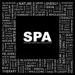 SPA. Word collage on black background — Stock Vector #3508357