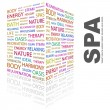 SPA. Word collage on white background - Stock Vector