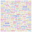 FITNESS. Word collage on white background — Imagen vectorial